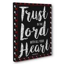 Trust In The Lord Motivational Quote CANVAS Wall Art Home Décor - $28.22