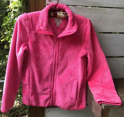 Children's Place Girls Sz L/G 10/12 Jacket Coat Full Zip Fuzzy Bubble Gum Pink  - $14.67
