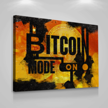 "Bitcoin Cryptocurrency Canvas Prints Office Wall Decor Modern Art Btc 18"" x 24"" - $75.56"