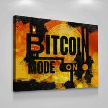 Bitcoin Cryptocurrency Canvas Prints Office Wall Decor Modern Art Btc 18... - $75.56
