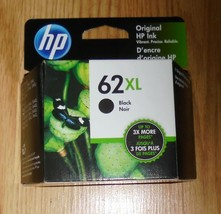 Genuine HP C2P05AN 62XL Black High Yield Ink Cartridge   62 XL Dated 2022 - $29.91