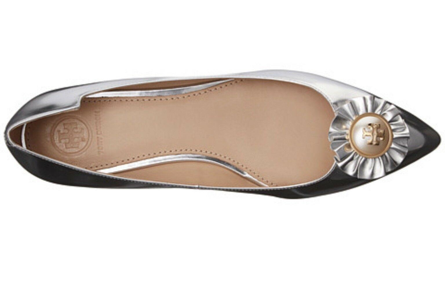 Tory Burch Melody Metallic Leather Flats Retail: $265