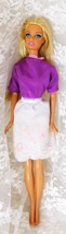 "Mattel 2011 Beach Barbie 11 1/2"" Doll w/Pink Highlights, Jointed Knees &... - $8.59"