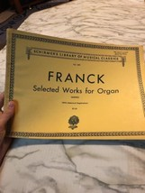 Franck Selected Works for Organ With Hammond Registration Vol. 1491 Schi... - $17.09