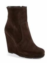 NEW PRADA Sport Brown Suede Wedge Booties (Size 39.5) - MSRP $680.00! - $299.95