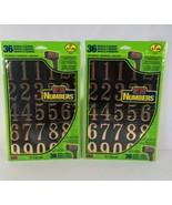 (QTY 2) Hy-Ko MM-3N Self Stick Numbers Black Gold Mailbox House Door Tru... - $15.99