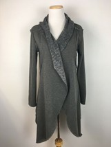 Anama Anthropologie Women's Gray Fleece Kimono Cardigan Sweater Size Small - $19.79