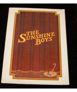 Sunshine Boys theater program Neil Simon Jack Albertson Sam Levene Alan ... - $16.99