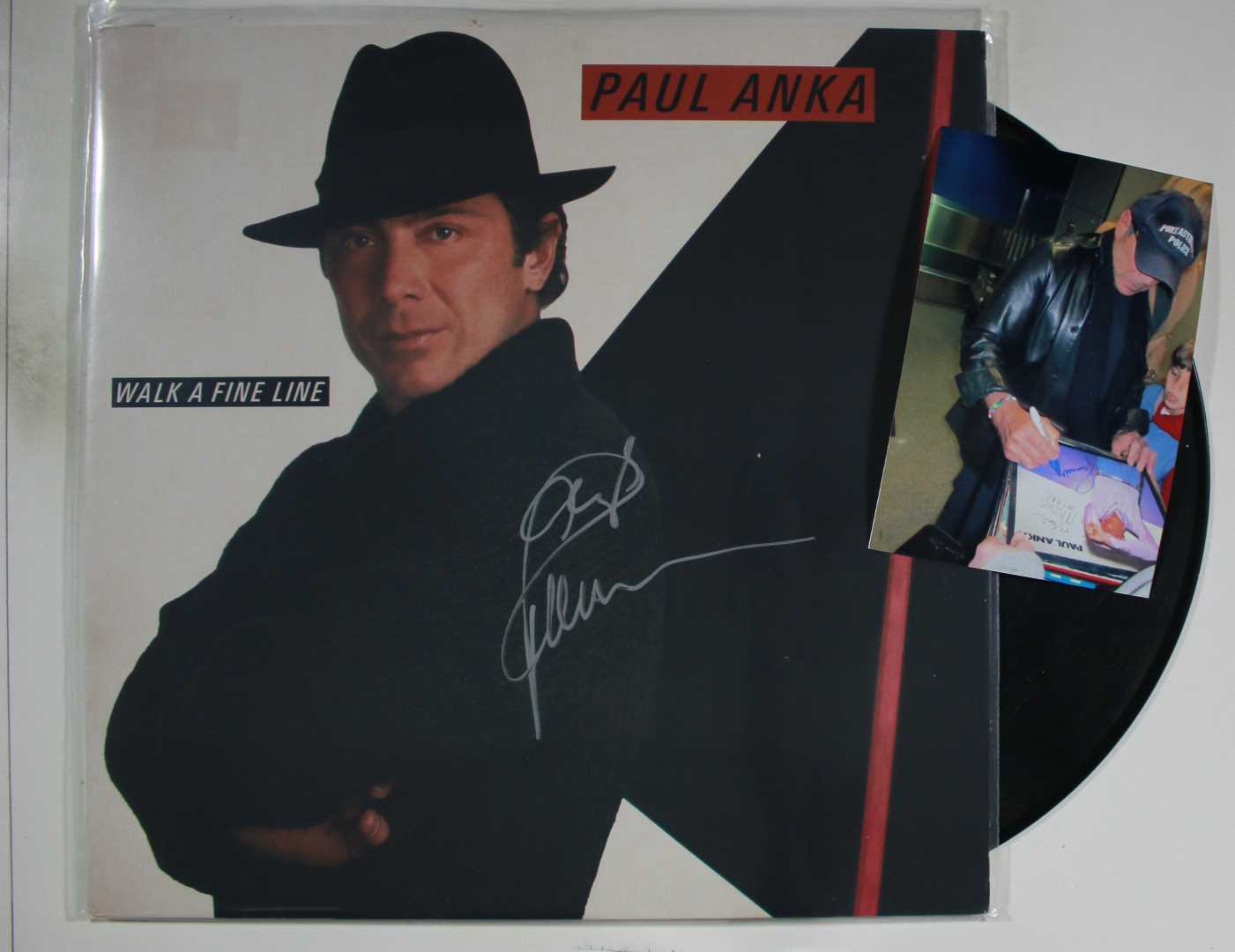 Primary image for Paul Anka Signed Autographed Record Album w/ Proof Photo
