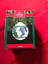 "1990 Hallmark Keepsake Ornament: ""Grandson"" Glass ornament FREE SHIP - $14.03"