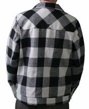 KR3W Thick Birmingham Black & White Plaid Checker Jacket Zip Up Coat NWT image 2