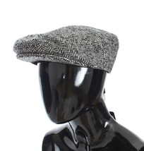 Dolce & Gabbana Gray Tweed Wool Newsboy Hat - $130.87