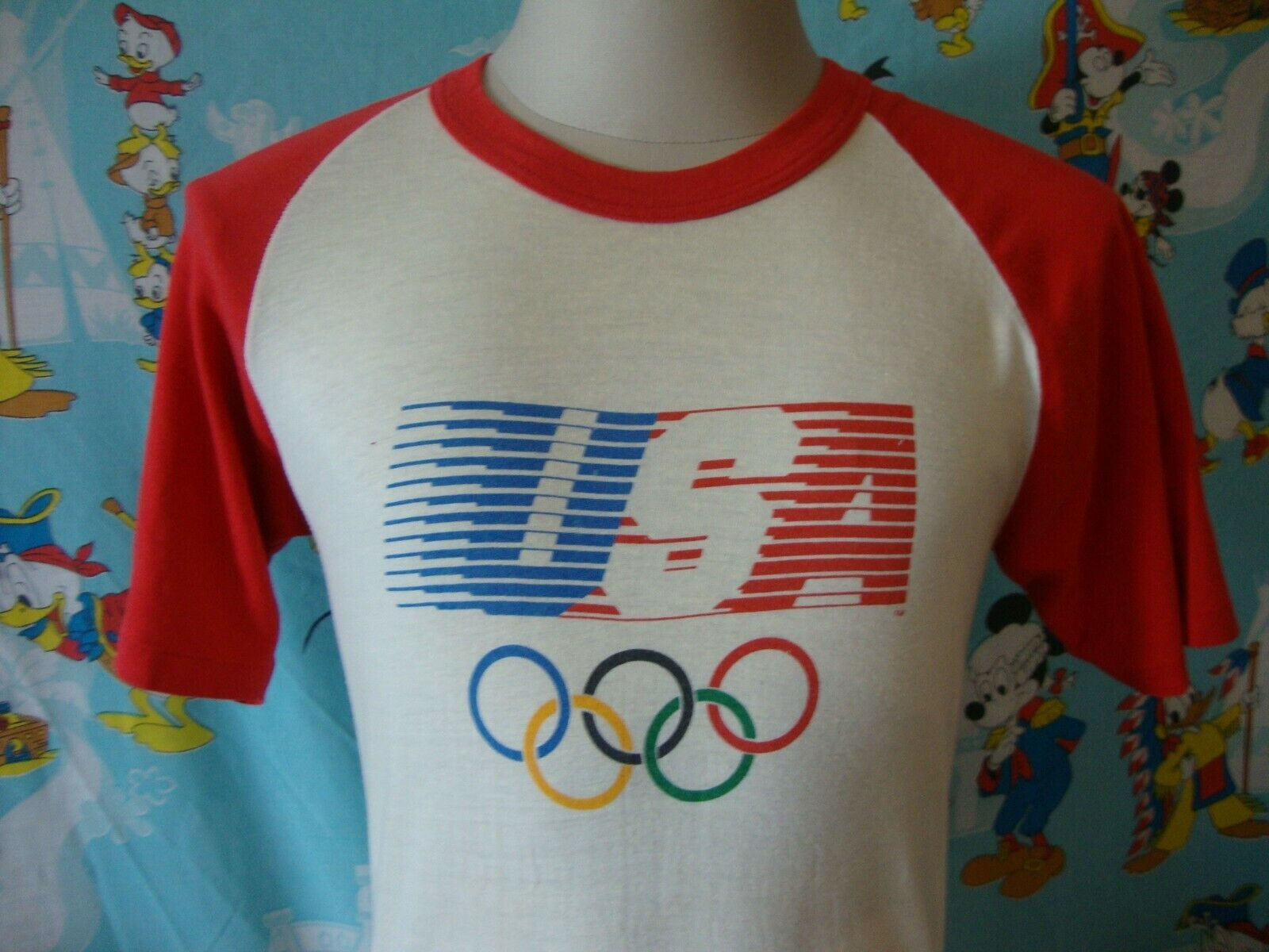 Primary image for Vintage Levis 1984 Los Angeles Olympics 80's T Shirt M