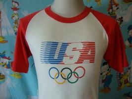Vintage Levis 1984 Los Angeles Olympics 80's T Shirt M  - $98.99