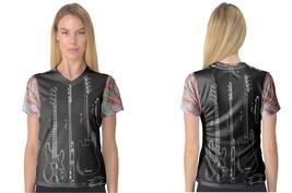 PRECISION BASS GUITAR PATENT   women v-neck - $19.99+
