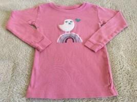 Baby Gap Girls Pink White Bird Teal Rainbow Snug Fit Long Sleeve Pajama ... - $5.48