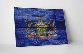 Vintage Pennsylvania State Flag Gallery Wrapped Canvas Wall Art - $44.50+