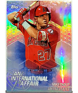 HOT! MIKE TROUT REFRACTOR 2018 TOPPS UPDATE #IA-MT INTERNATIONAL CHROME... - $44.95