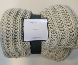Chunky Knit Throw Blanket Neutral - Threshold (NEW) - $34.65