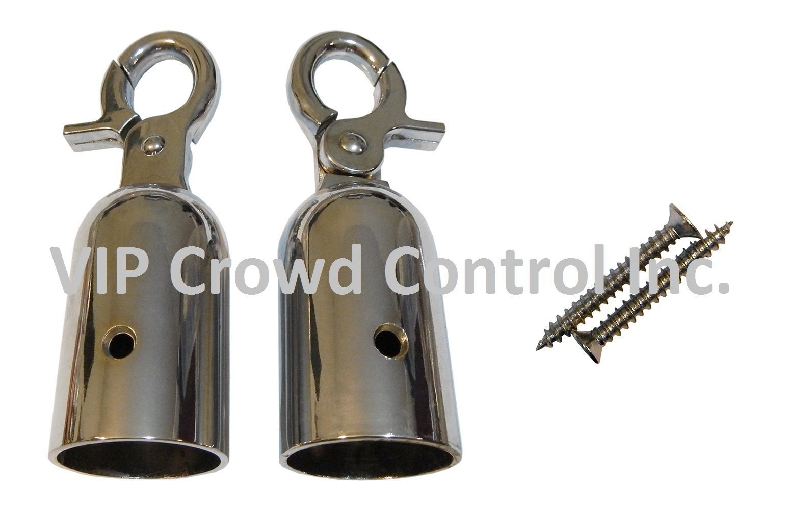 REPLACEMENT ROPE HOOK, 2 PCS SET, MIRROR POLISHED, VIP CROWD CONTROL