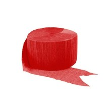 Apple Red Crepe Streamer 81 Ft - $1.99