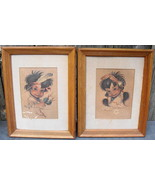 Monte Flagg American Indian Children Prints (2)Billy Roadrunner Little W... - $30.00