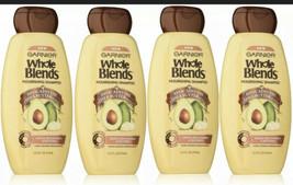 (4)GarnierWholeBlends Nourishing Shampoo,Avocado Oil &SheaButterExt.,12.5 OZ EA - $20.78