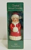 Vintage Goebel Annual Ornament 1980 Third Edition Mrs Santa - $10.80