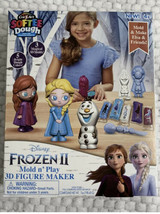 Frozen II Mold Play 3D Figure Maker Fun Softee Dough Cra Z Art Anna Elsa Olaf - $14.52
