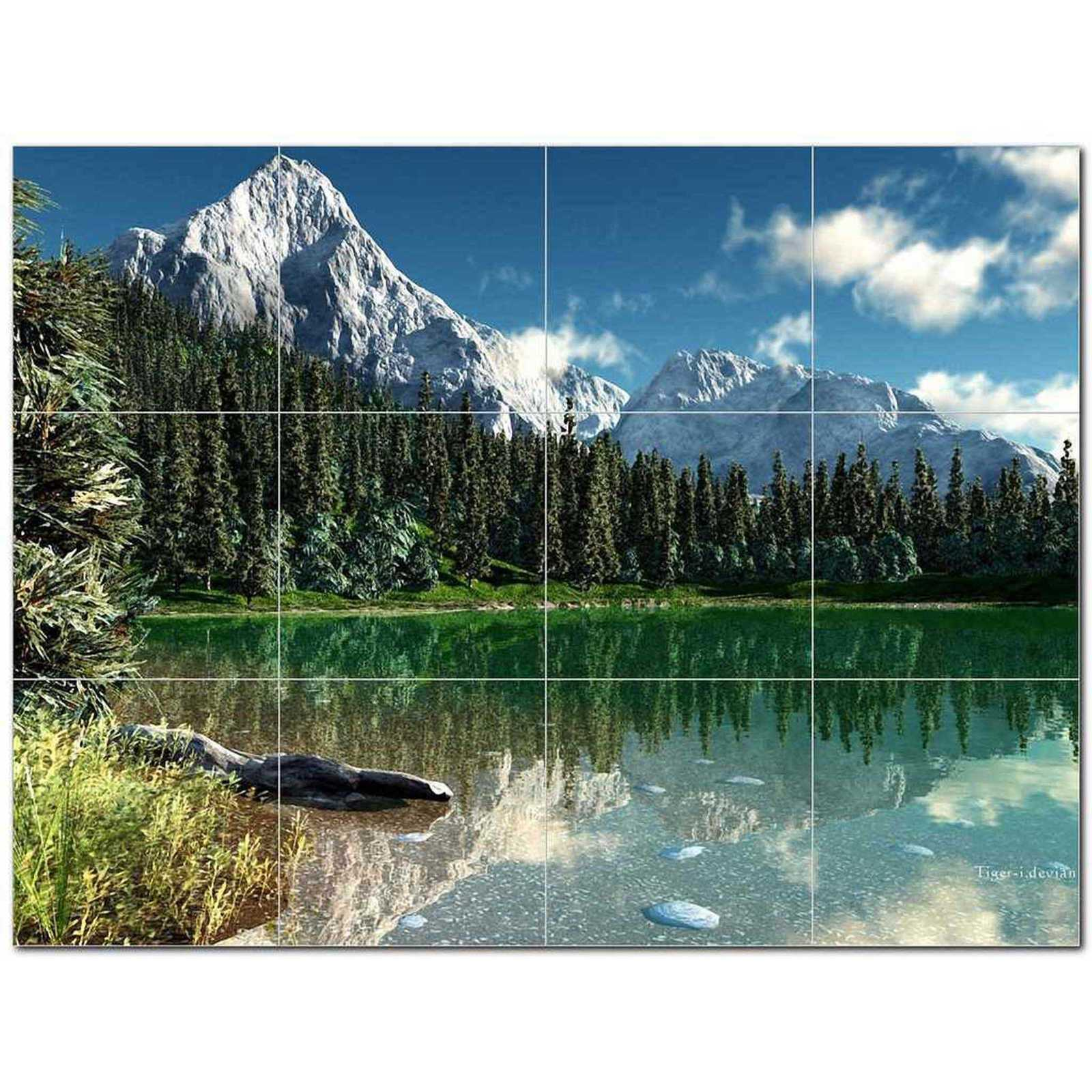 Primary image for Mountain Photo Ceramic Tile Mural Kitchen Backsplash Bathroom Shower BAZ405540