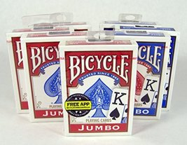 Bicycle Poker Size Jumbo Faces Standard Index Playing Cards, 2 Piece - $12.25