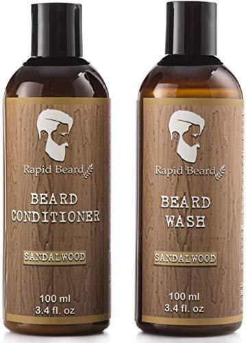Beard Shampoo and Beard Conditioner Wash & Growth kit for Men Care - Sandalwood