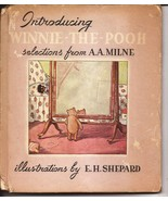 1947 INTRODUCING WINNIE THE POOH SELECTIONS FROM A.A. MILNE HARDCOVER  - $24.95
