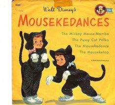 Walt Disney's Mousekedances Children Vintage Record , A Mickey Mouse Clu... - $4.95