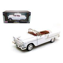 1955 Chevrolet Bel Air Convertible Soft Top White 1/18 Diecast Car Model... - $49.51
