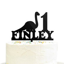 Custom Personalized Birthday Name Age Dinosaur Cake Topper Brontosaurus ... - $21.99