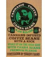 CANNA BEANS TEGRITY MARIJUANA COFFEE  BURLAP BAG pot leaf farms wall  #4... - $18.00