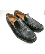 Abeo Bio Womens Black Leather Moc Toe Loafers Size US 9.5 - $21.34