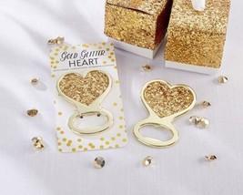 Gold Glitter Heart Bottle Openers Set of 12 - $42.08