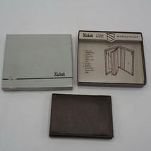 Vintage Braun Zweifach Gefaltet Fremont Leder Portmonee von Hickok Nummern - $39.71