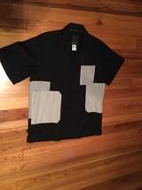 Sean John Short Sleeve Shirt Black And Gray Size Xl - $24.19