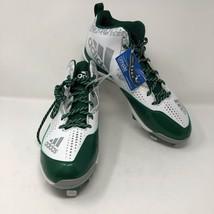 NWOB Adidas Mens Litestrike Baseball Metal Cleats Sz 14 Green White Ortholite - $37.86