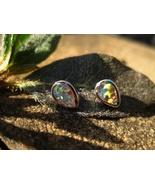 Haunted Voodoo Belle Eye of the Storm Red Opal 925 stud earrings - $33.33