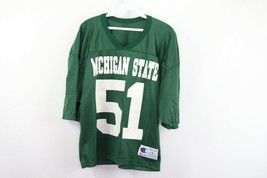 Vintage 90s Champion Mens Large Michigan State Spartans #51 Crop Football Jersey - $49.45