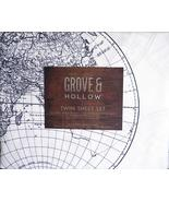 Grove & Hollow Old World Globe Map Style Black/White Microfiber Sheet Se... - $53.00