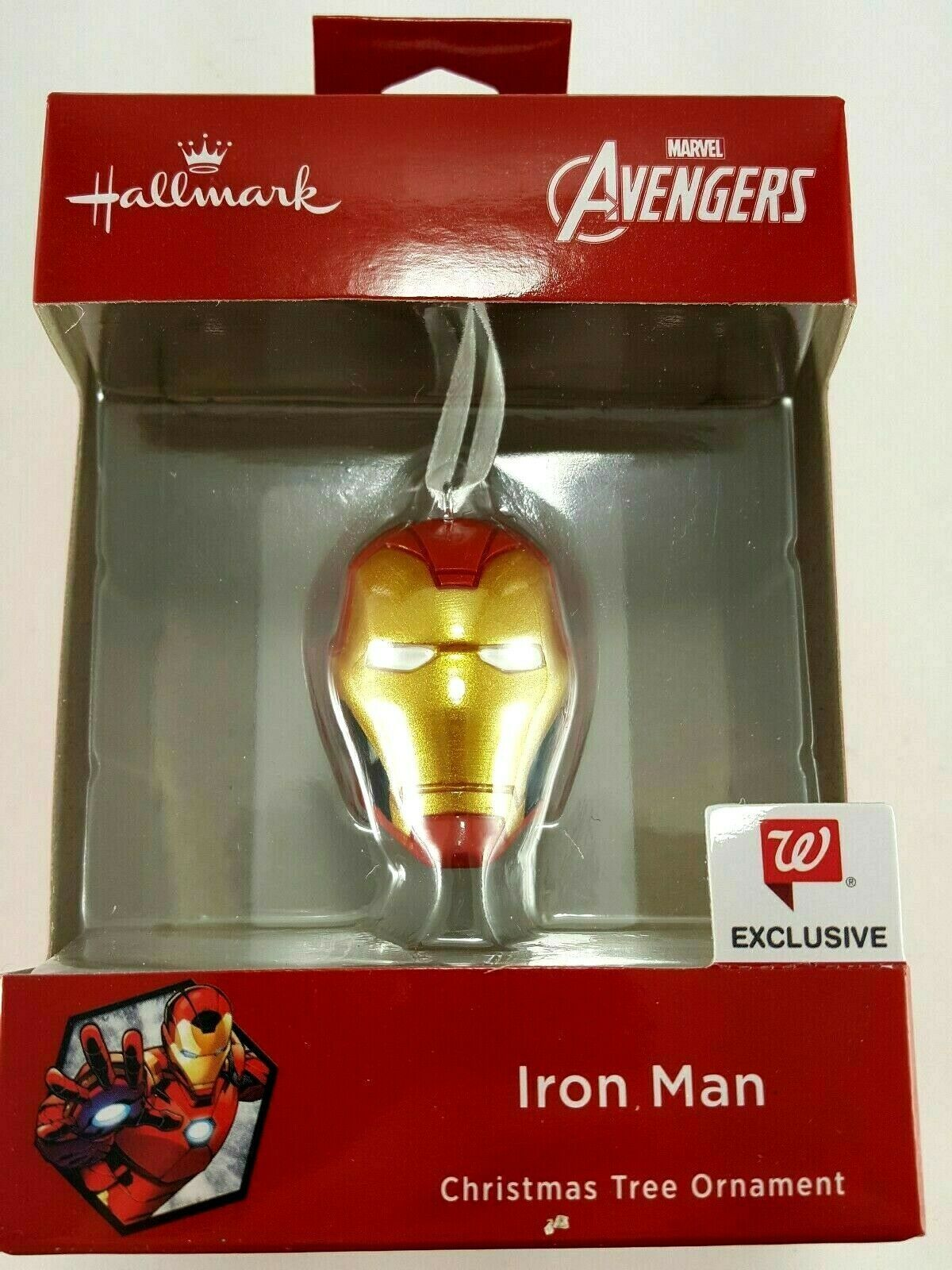 Iron Man Mask Christmas Tree Ornament Walgreens Exclusive Marvel Avengers NEW