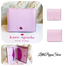 NWT KATE SPADE LEATHER NADINE SMALL BIFOLD WALLET IN LAVENDER FROSTY - $58.29