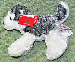 "New Aurora World Mini 6"" Husky Hush B EAN Bag Stuffed Animal Hang Taggs Grey White - $9.90"
