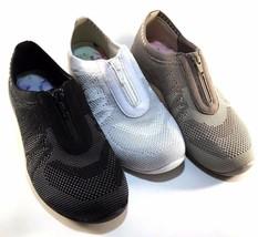 Skechers 23064 White/Silver Classic Fit AirCooled Memory Foam Slip On Sneaker - $51.80