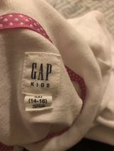 Gap Kids Girls Polo Shirt White Size Xxl(14-16) image 4